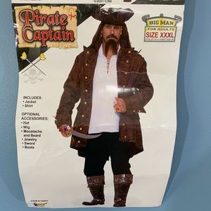 Pirate Captain Shirt and Jacket Costume Plus Size